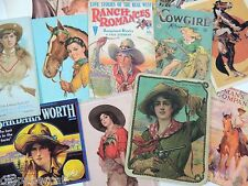 12 Vintage COWGIRL WESTERN COWBOY RODEO DIE CUTS for CRAFTING | M13