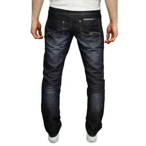 Uomo Enzo Designer Regolari Jeans Gamba Dritta disponibile in 2 colori NUOVO CON ETICHETTA