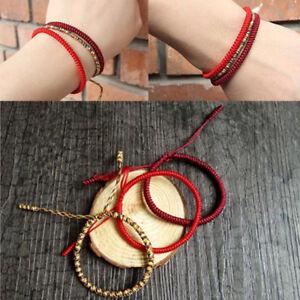 c161bf4ac74ba Image is loading Lucky-Handmade-Buddhist-Knots-Rope-Bracelet-Tibetan-Best-