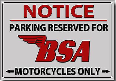 BSA GOLDSTAR AUTHORISED BSA GOLDSTAR OWNER METAL SIGN.CLASSIC BRITISH BSA