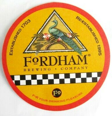 FORDHAM BREWING COMPANY Beer COASTER MARYLAND 2009 Annapolis Mat