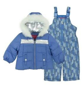 149aaf9d6f8e LONDON FOG® Toddler Girl 4T Periwinkle 2-Pc. Jacket   Snowsuit Set ...