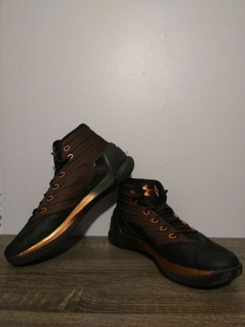 low priced 26046 8871b Men's Under Armour Curry 3 Black/Rose Gold Copper Brass Size 10.5
