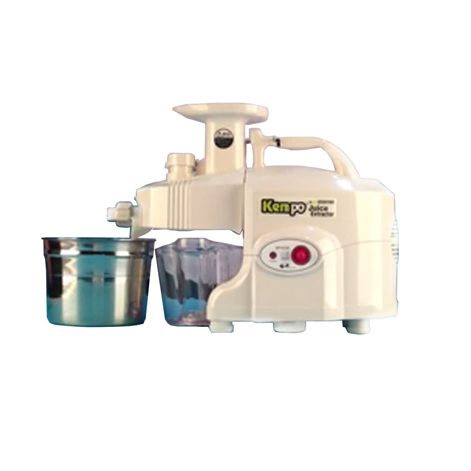 New vert POWER KEMPO GPT-E1303SE Exclusive Pro-Type Twin gear juicer-blanc