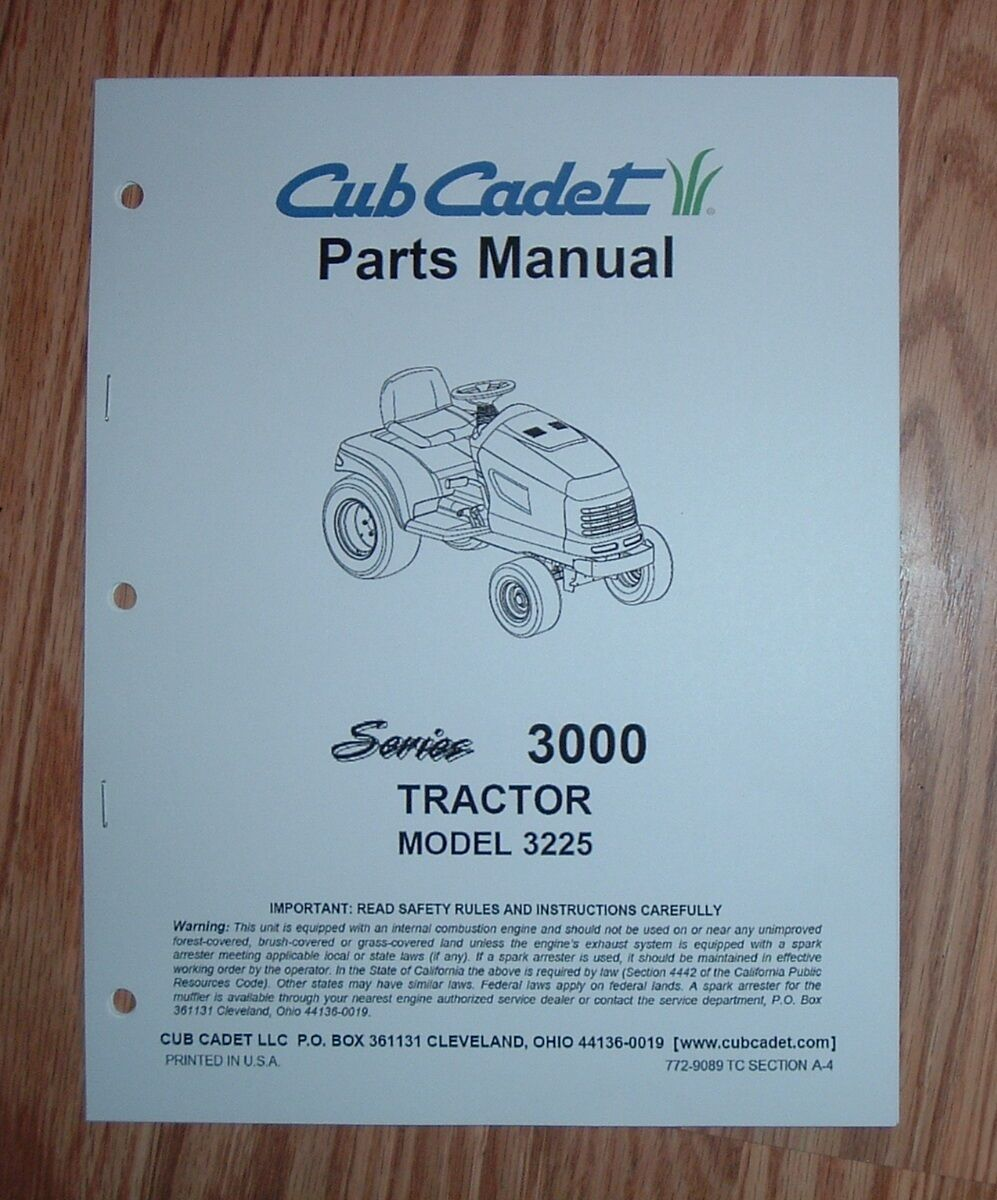 3225 Cub Cadet Parts Diagram Electrical Wiring Diagrams Engine Schematics Tractor Illustrated List Catalog Attachments