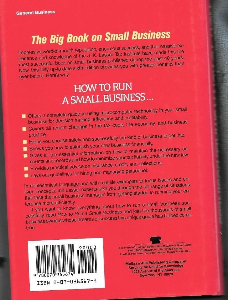 How to Run a Small Business , J K Lasser, emne: organisation