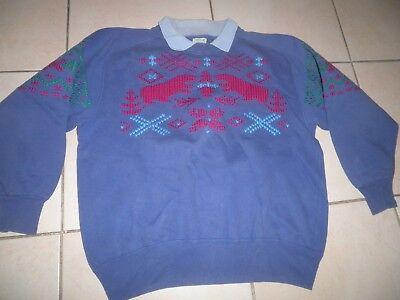 Best Company 80 Noel Christmas Jumper Ricamata Felpa Old Paninaro Vintag Rar