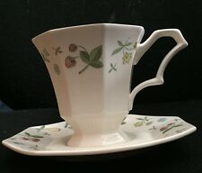 INDEPENDENCE IRONSTONE INTERPACE CHINA OLD ORCHARD PATTERN CUP AND SAUCER SET