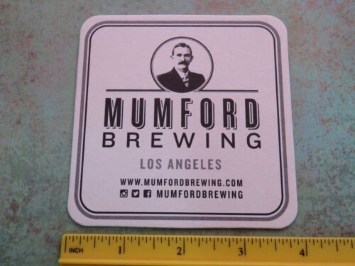 Beer Brewery Coaster ~*~ MUMFORD Brewing Co ~*~ Downtown Los Angeles CALIFORNIA