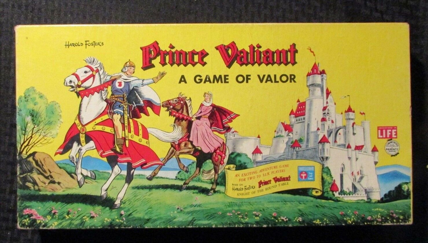 1959 PRINCE VALIANT Game of Valor Board VF FN+ Transogram Complete Hal Foster