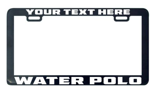 Water polo design your own custom personalized license plate frame holder