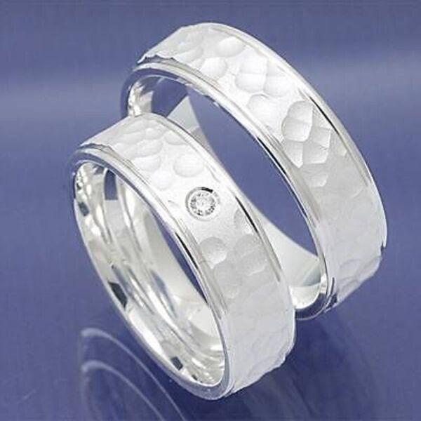 1 Paar Designer Partnerringe Trauringe Hochzeitsringe Und Eheringe Aus Silberbes Zu Verkaufen