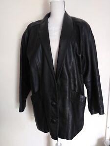 Vintage-Euro-Mond-Of-California-Leather-Jacket-Women-039-s-Size-Medium-Black