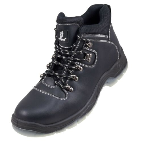 Safety Work Boots Black Full Leather Steel Toe Cap /& Midsole Mens New