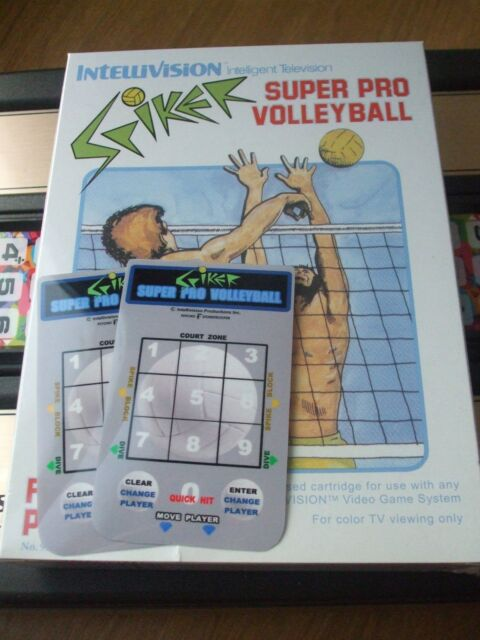 NEW SPIKER SUPER PRO VOLLEYBALL PSYCHO ORPHAN OVERLAYS FOR INTELLIVISION GAME