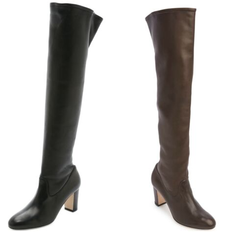 MAIYET Women/'s Vivien Stretch Over the Knee Leather Boots $1,295 NEW
