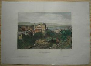 1860 Meyer print ALHAMBRA, GRANADA, SPAIN (#3)