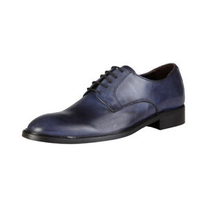 Details zu DESIGN V 1969 GILLES P_BLU Herrenschuhe Business Schuhe Schnürschuhe, Blau