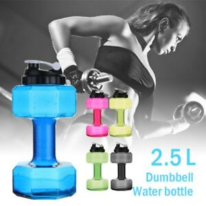 2.2L Sports Large Water Bottle Cap Big Drink BPA Free Kettle Gym Training Sport