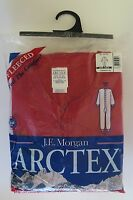 J.e. Morgan Fleeced Union Suit One Piece Long Johns Thermal Underwear Red Sz M