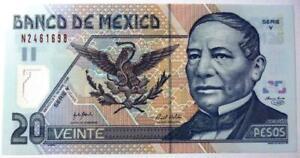 MEXICO-BANKNOTE-20-Pesos-Pick-116F-UNC-2006-Polymer