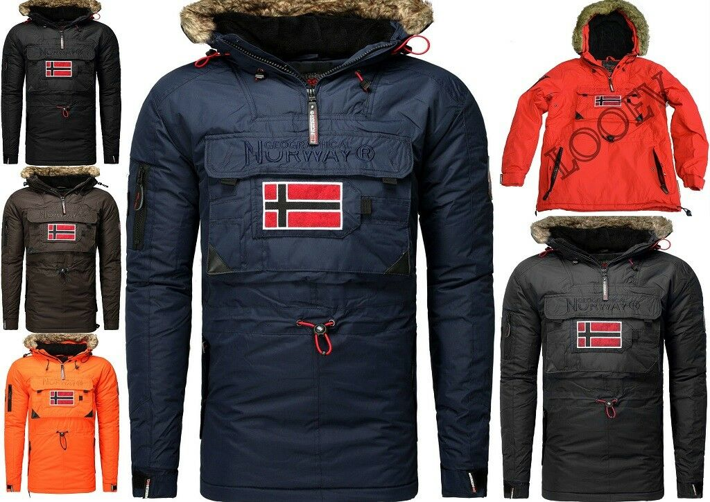 Geographical Norway Bronson men Giubbotto Parka Giacca Veste Poncho