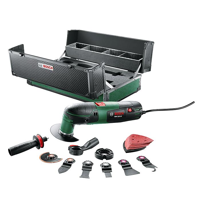 Bosch PMF Multifunktionswerkzeug 220 CE in Toolbox 0603102004 17tlg. Zubehör NEU