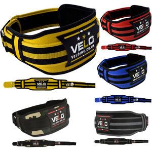 VELO Weight Lifting Belt Gym Training Back Support Neoprene Fitness Lumber