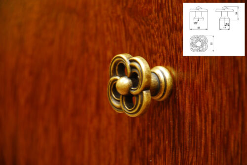 Finition laiton vieilli cuisines tiroir armoire cabinet pull poignées bouton