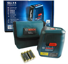BOSCH GLL 3X Professiona Self Leveling Laser 3 Lines Cross Line + Vertical Line