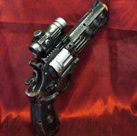 Steampunk cyber gothic gun revolver pistol Victorian laser LIGHT pirate Toy