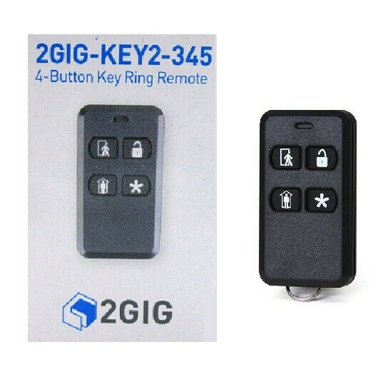 Additional 2GIG 4-Button Key Ring Remote Security Alarm