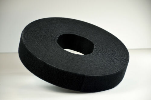 VELCRO® Hook and loop ONE WRAP® double sided Strapping 16mm x 1 metre in black
