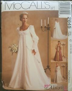 Details about Renaissance Medieval Bridal Gown McCalls Sewing Pattern 2645  Uncut 10-14 Costume
