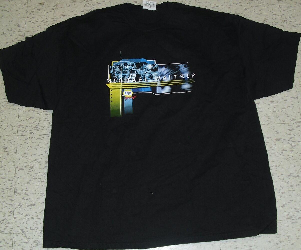 Michael Waltrip Nascar Racing NEW2 T-Shirt sz.2X XXL BRAND NEW2 Racing SIDED PRINTS 5e19b7