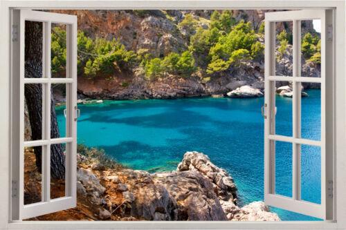 3D Sunshine Beach Decal Home Decor Window View Removable Wall Art Stickers Vinyl
