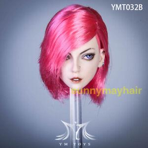 YMTOYS-1-6-Pink-Hair-Ethel-Head-Carved-Makeup-Girl-Head-Sculpt-Fit-Suntan-Figure