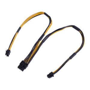 Mini 6Pin Male To 8Pin Male PCIe Video Card Power Cable For Mac Pro 18AWG