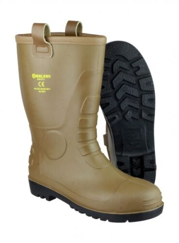 Amblers FS95 Tan PVC Rigger with steel toe cap and midsole Mens /& Ladies Sizes