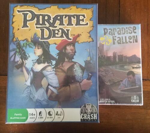 Pirate Den /& Paradise Fallen family card games NEW Crash Games