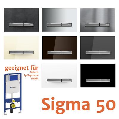 Relativ NEUE 2019* Geberit Sigma 50 Betätigungsplatte / WC Drückerplatte SX62