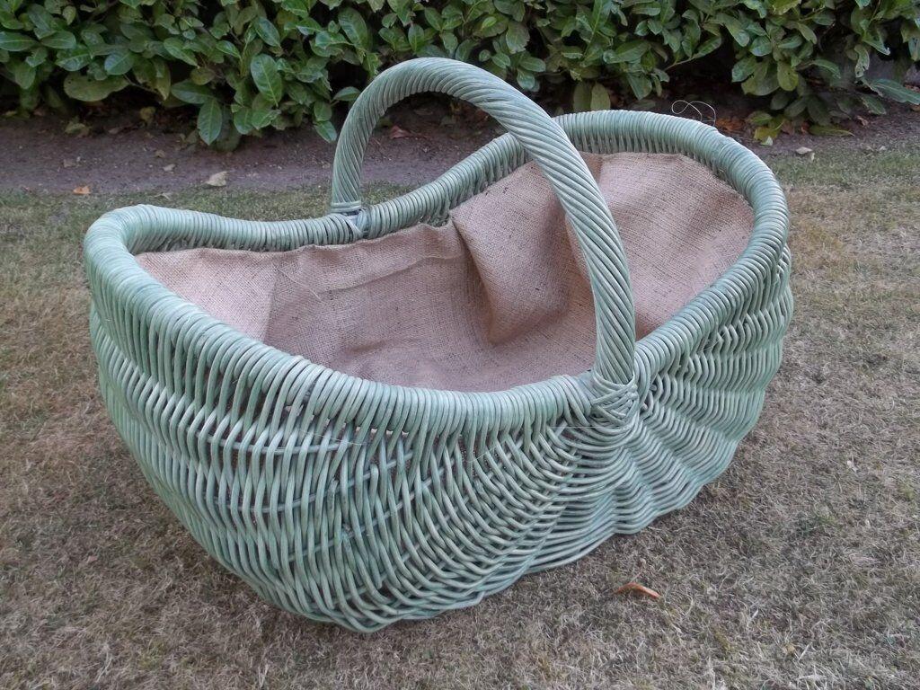 CAMINO cesta, cesta giornale, gigante cesta, verdastro, con fodera