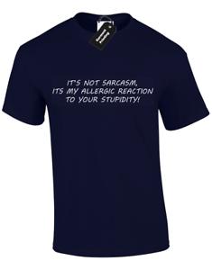 ITS NOT SARCASM MENS T SHIRT FUNNY PRINTED SLOGAN DESIGN TOP JOKE COMEDY S 5XL