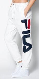 Basic Survêtement De Fila Pantalons Unisexe Classic Blanc Jogginghose PtAWfYw7Hq