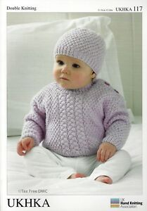 f9e66972b4a3 VAT Free Hand Knitting Pattern DK Baby Scarf Sweaters Jumpers Hat ...