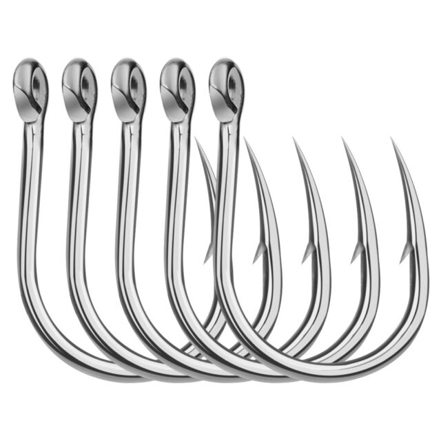 20pcs Saltwater Fishing Hooks Lure Bait Hook Stainless Steel Big Jig Fishhooks
