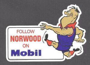 FOLLOW-NORWOOD-ON-MOBIL-OIL-Vinyl-Decal-Sticker-PETROL-PROMO-sanfl-afl-vfl-GAS