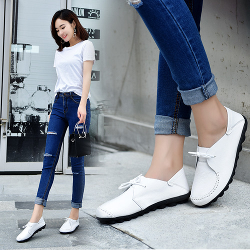 2021 Women Flat Shoes Ladies Soft Sole Casual Flat Shoes Students Hot