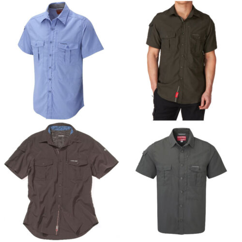 Craghoppers NosiLife Men/'s Insect Repellent Short Sleeve Shirt Top Gift Travel