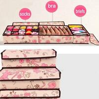 3Pcs Set Bra Socks Underwear Ties Drawer Closet Home Organizer Storage Box Case